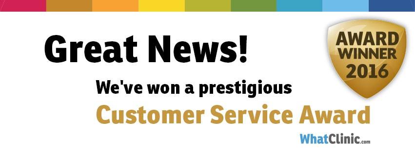 Premio servicio al cliente Whatclinic 2016